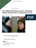 Storytelling Marketing Narrative, Story Living, Obama Story Line, Data Visualization & More
