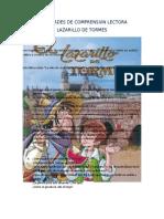 Actividades de Comprensión Lectora Lazarillo
