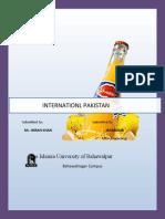 Internship Report Shezan International 2011
