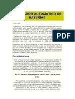 CARGADOR AUTOMÁTICO DE BATERÍAS