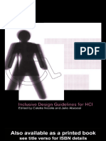 Colette Nicolle, Julio Abascal (Eds) - Inclusive design guidelines for HCI-Taylor  Francis (2001)