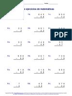 Ejercicios_matematicas restas 6°