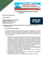 """TRABAJO PRÁCTICO NO. 2 """"PROCEDIMIENTO DE GESTIÓN INTERNA DE RESIDUOS PELIGROSOS"""""""