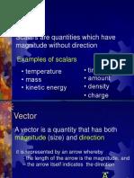 scalar and vectors