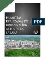 informe pasantias Altos De La Sabana