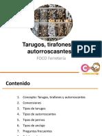 4. Tarugos, tirafones y autorroscantes Nuevo Formato.