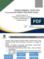 Materi 8 - Pendanaan Jangka Panjang, Teori Opsi, Pendanaan Hybrid  Sewa Guna