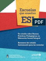 Estudio buenas practicas pedagogicas en ESI - Resumen e instrumento