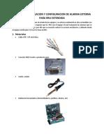 MANUAL DE INSTALACION DE ALARMA EXTERNA PARA RRU EXTENDIDA