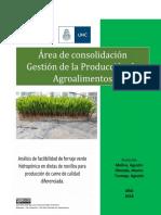 Análisis de factibilidad de forraje verde hidropónico en dietas de novillos para producción de carne de calidad diferenciada (1)