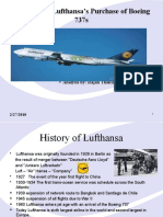 Lufthansa s Purchase of Boeing 737s