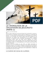 cronologia de muerte de cristo
