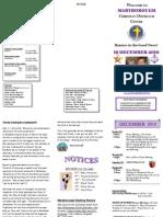 Newsletter 19 Dec 2010