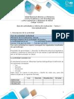 Guía de actividades y rúbrica de evaluación – Unidad 1 -  Tarea 1 - Conceptualización
