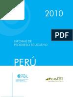 Informe de progreso educativo Perú 2010