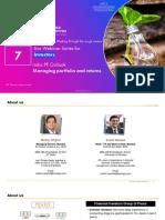 India PE Outlook – Managing Portfolio and Returns