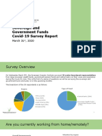 Sovereign & Government Funds COVID Survey Report – 31March2020