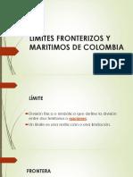 LIMITES FRONTERIZOS Y MARITIMOS DE COLOMBIA PRESENTACION