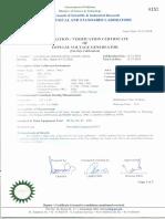 Calibration certificate for Impulse Generator