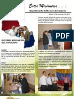 Boletin 189 INFORME MISIONERO DE PARAGUAY - NOV 5 DE 2010