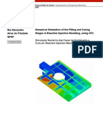Numerical Simulation of the Filling and Curing Stages in Reaction Injection Moulding, using CFX