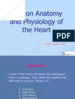 Test on Anatomy and Physiology of the Heart