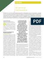 La Formación Del Personal en La Industria Farmacéutica