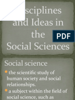Disciplines and Ideas in the Social Sciences