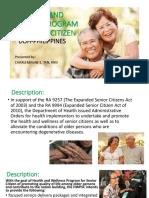 Week 15 - HEALTH AND WELLNESS PROGRAM FOR SENIOR CITIZEN