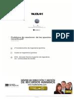 Problema de reactores  de los apuntes (el 4) corregido y resuelto