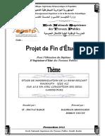 W1603 ETUDE DE MODERNISATION DE LA RN90 RELIANT HACHASTA - SIDI ALI SUR 10.8 KM AVEC CONCEPTION DES DEUX CARREFOURS