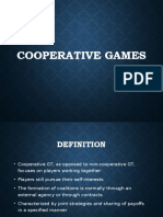 Game Theory - Cooperative games