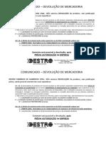 COMUNICADO - Devolução Destro.docx