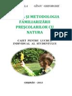 Ginju, Stela - Teoria si metodologia familiarizarii prescolarilor cu natura_ Caiet practic