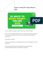 How to Earn Money in India _26 Unique Ways to Make Money(2020)