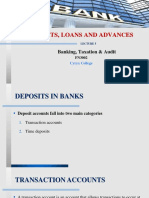 Lec 5_Deposits, Loans and Advances