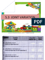 5.3 Joint  variation