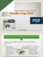 Estudios Gage RR using Minita