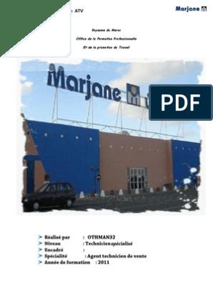 Rapport De Stage Marjane Maroc Sodles