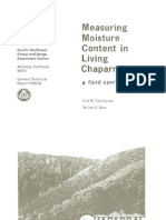 Measuring moisture content in living chaparral