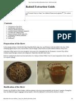 Easy Caapi Vine Alkaloid Extraction Guide