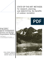 State-of-the-art methods for research, planning, and determining the benefits of outdoor recreation