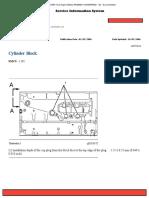 Cylinder Block 3126 Especificaciones