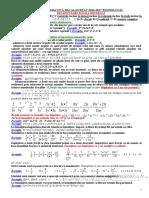 Teorie Matematică Bacalaureat 2017