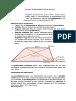 GEOMETRIA 8º ANO PROFESSOR CONTEUDO E EXERCICIOS