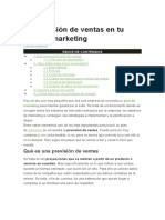 La previsión de ventas en tu plan de marketing