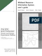 Wildland resource information system