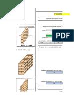 Hoja de Excel para el Calculo de Ladrillos, Bloques y Morteros