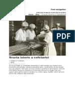 Istoria dulciurilor in Romania