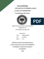 RPP IPA Keseimbangan Ekosistem Kelas IV Semester I